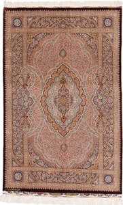 6x4 qum persian rug 800kpsi silk