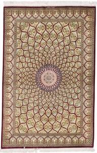 7x5 gonbad qom persian rug