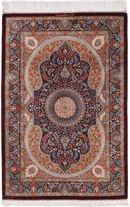 4x3 700kpsi silk qum persian rug