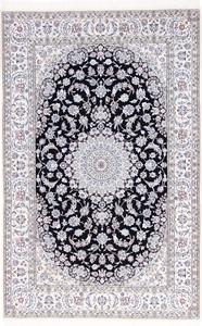 10x6 navy blue nain persian rug