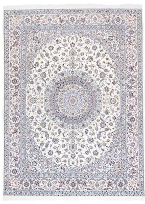 13x10 beige silk nain persian rug