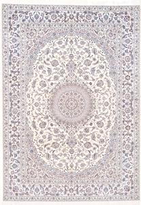 12x8 beige silk nain persian rug