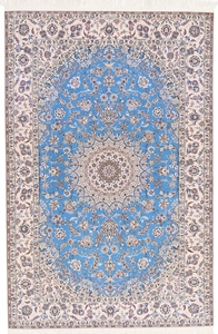 8x5 light blue nain persian rug