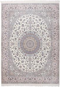14x10 beige silk nain persian rug