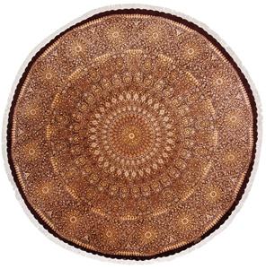 10x10 round gonbad qom persian rug