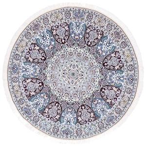 5x5 round gonbad nain persian rug