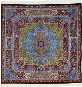 square 1000kpsi qom persian rug