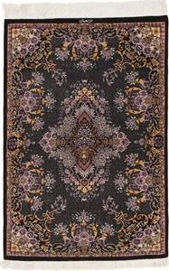 4x3 signed silk qum carpet