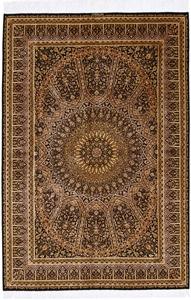 6x4 gonbad qum silk rug