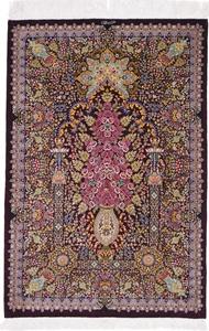 800 KPSI Pure Silk Qum Persian rug