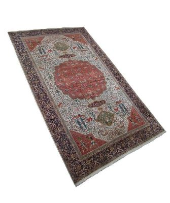26x16 wool persian rug with silk highlights