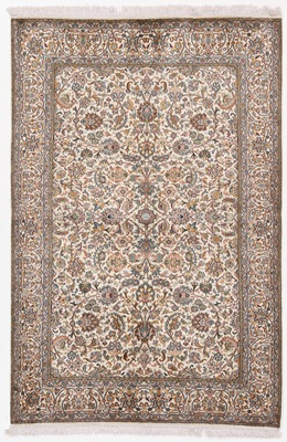6 foot silk kashmir rug