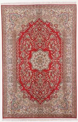 2 meter kashmir red silk carpet
