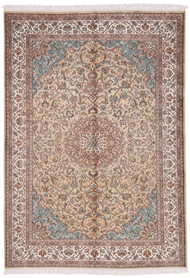 light brown silk rug