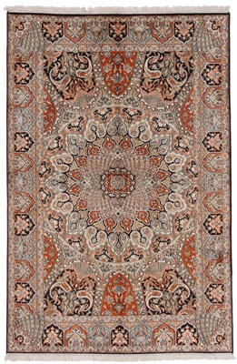 6x4 gombad silk carpet