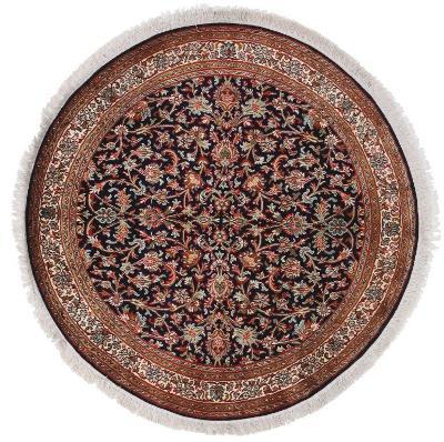 3x3 round silk kashmir persian rug