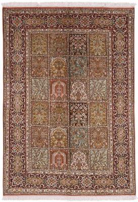 5x4 silk kashmir persian carpet