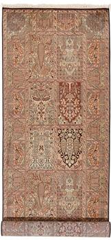 9x3 handmade kashmir silk rug runner