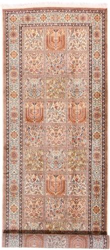 10x3 Runner 350KPSI silk Kashmir Persian rug, 18/18 kashmir carpet
