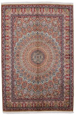 gonbad kashmir silk carpet