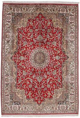 7x4 silk kashmir handmade carpet