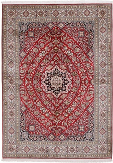 silk kashmir persian carpet