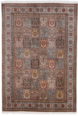 tile pattern silk persian rug