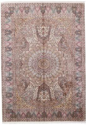 10x7 350KPSI silk Kashmir Persian rug, 18/18 kashmir carpet