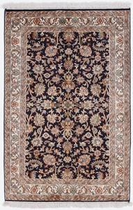 4x2 dark silk kashmir persian carpet