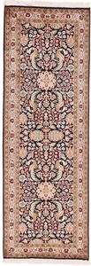 6x2 runner silk kashmir persian rug