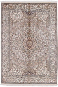 6x4 gonbad silk kashmir persian carpet