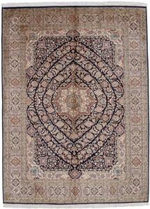 6x4 dark silk kashmir rug