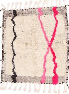 square beni ourain berber rug 4x4