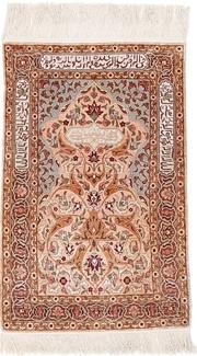 3x2 silk hereke turkish rug