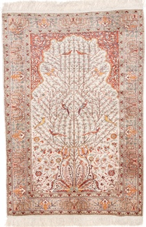 4x3 kayseri silk turkish rug