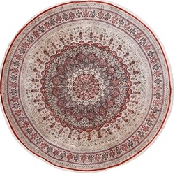8foot 250cm round silk hereke rug