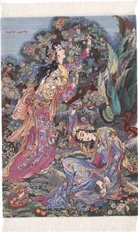 900kpsi tabriz silk persian rug