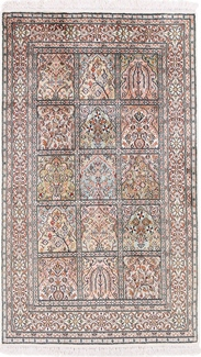 4x3 tile design silk kashmir carpet
