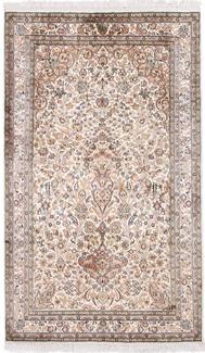 5x3 light silk kashmir rug