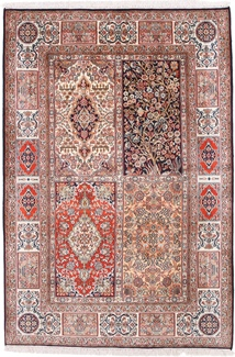 6x4 tile design silk kashmir persian rug
