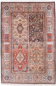 6x4 tile design silk kashmir persian rug