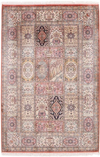 6x4 tile design silk kashmir carpet