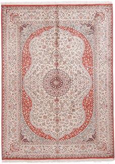 7x5 light silk kashmir carpet