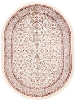 7x5 oval silk kashmir rug