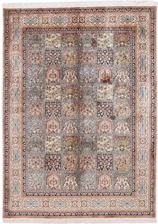 7x5 tile design silk kashmir carpet