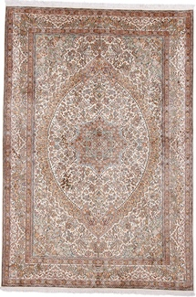 8x5 light silk kashmir carpet