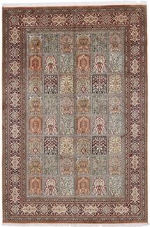 9x6 tile design silk kashmir carpet