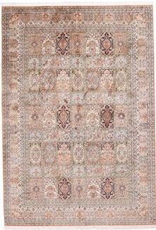 8x6 tile design silk kashmir carpet