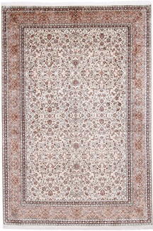 10x7 light silk kashmir carpet
