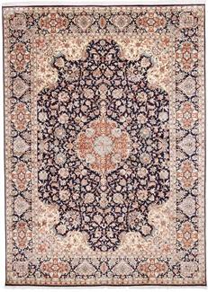 10x7 dark silk kashmir rug